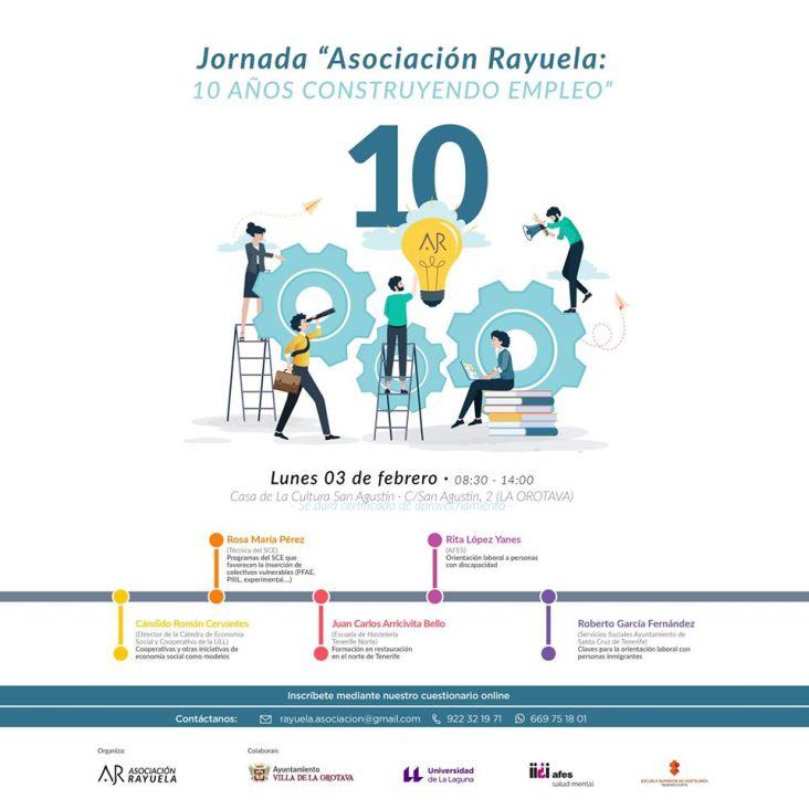 Jornada ASOCIACIÓN RAYUELA 10 AÑOS CONSTRUYENDO EMPLEO
